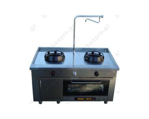 Διπλό WOK με Ηλεκτρικό Φούρνο CASTA Ιταλίας