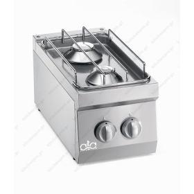 Επιτραπέζια Κουζίνα 2 Εστιών Αερίου 30x60 εκ ATA srl Ιταλίας