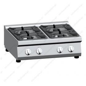 Επιτραπέζια Κουζίνα 4 Εστιών Αερίου 80x70 εκ ATA srl Ιταλίας