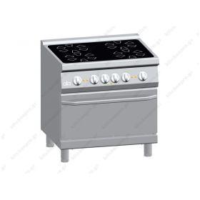 Επιδαπέδια Κεραμική Κουζίνα 4 Εστιών με Φούρνο 80x70 εκ ATA srl Ιταλίας