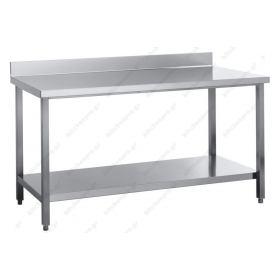 Τραπέζι Εργασίας 100 εκ με Υπερυψωμένη Πλάτη Kitchen Pro