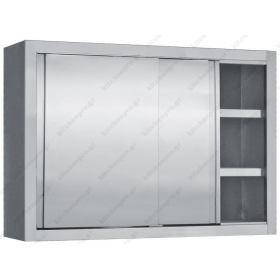 Ερμάριο Τοίχου 110 εκ με Inox Πόρτες (Απλή Κατασκευή)