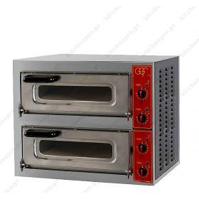 Φούρνος Πίτσας Ηλεκτρικός για 2 Πίτσες 40x40 εκ. GGF Ιταλίας