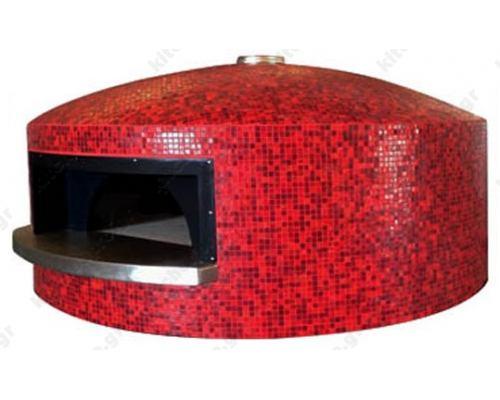 Χτιστός Φούρνος Πίτσας Αερίου & Ξύλου 5 Πίτσες 30 εκ. PENTAGONALE CEKY Ιταλίας