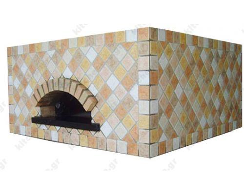 Χτιστός Φούρνος Πίτσας Αερίου & Ξύλου 8 Πίτσες 30 εκ. QUADRATO CEKY Ιταλίας