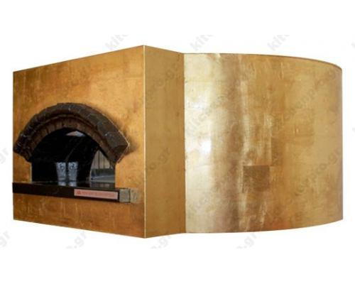 Χτιστός Φούρνος Πίτσας Αερίου & Ξύλου 8 Πίτσες 30 εκ. ROTONDO CEKY Ιταλίας