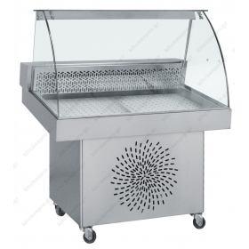 Επαγγελματικό Ψυγείο Βιτρίνα Προβολής Ψαριών (Ψαριέρα) 110x85εκ
