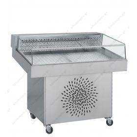Επαγγελματικό Ψυγείο Βιτρίνα Προβολής Ψαριών (Ψαριέρα) 110x85εκ Kitchen Pro