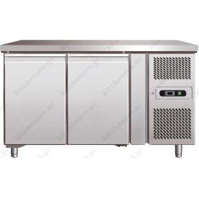 Επαγγελματικό Ψυγείο Πάγκος Συντήρηση 151 εκ. 2 Θυρών Ζαχαροπλαστικής Ταψιά 40χ60 εκ.