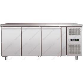 Επαγγελματικό Ψυγείο Πάγκος Συντήρηση 202 εκ. 3 Θυρών Ζαχαροπλαστικής  Ταψιά 40χ60 εκ.