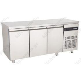 Ψυγείο Πάγκος Συντήρηση 179 χ 60 με 3 Πόρτες INOMAK