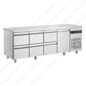 Ψυγείο Πάγκος Συντήρηση 224 χ 70 με 6 Συρτάρια & 1 Πόρτα INOMAK