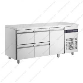 Ψυγείο Πάγκος Συντήρηση 179 χ 70 με 4 Συρτάρια & 1 Πόρτα INOMAK