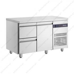 Ψυγείο Πάγκος Συντήρηση 134 χ 70 με 2 Συρτάρια & 1 Πόρτα INOMAK