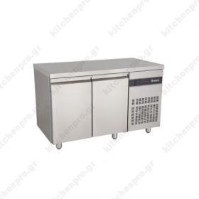 Ψυγείο Πάγκος Συντήρηση 134 χ 70 με 2 Πόρτες INOMAK