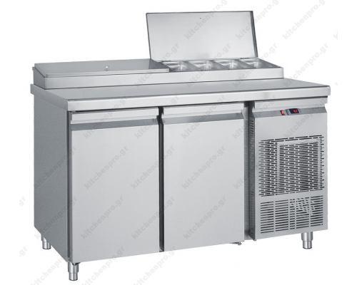Επαγγελματικό Ψυγείο Πίτσας & Σαλατών 139x70 εκ. Συντήρηση με 2 Πόρτες