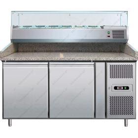 Επαγγελματικό Ψυγείο Πίτσας με Ανεξάρτητο Επαγγελματικό Ψυγείο Υλικών Επάνω 151χ80 εκ. FORCAR Ιταλίας