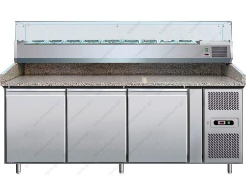 Ψυγείο πίτσας με ανεξάρτητο ψυγείο υλικών (202,5 x 80 εκ.) FORCOLD