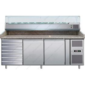 Επαγγελματικό Ψυγείο Πίτσας με Ανεξάρτητο Επαγγελματικό Ψυγείο Υλικών Επάνω 202,5χ80 εκ. FORCAR Ιταλίας