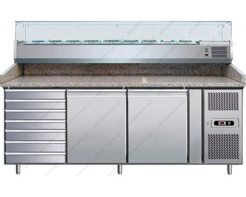 Ψυγείο πίτσας με ανεξάρτητο ψυγείο υλικών FORCOLD Ιταλίας