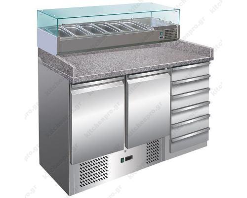 Ψυγείο Πίτσας με Ανεξάρτητο Ψυγείο Υλικών 140 x 70 εκ. FORCOLD Ιταλίας