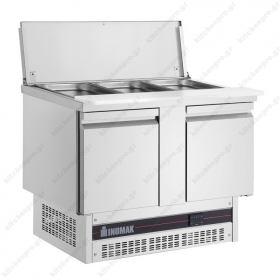 Επαγγελματικό Ψυγείο Πάγκος Τοστ - Σαλατών 108χ70 εκ. Συντήρηση με 2 Πόρτες ΙΝΟΜΑΚ
