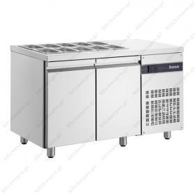 Επαγγελματικό Ψυγείο Πάγκος Τοστ - Σαλατών 136χ70 εκ. Συντήρηση με 2 Πόρτες ΙΝΟΜΑΚ