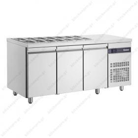 Επαγγελματικό Ψυγείο Πάγκος Τοστ - Σαλατών 181χ70 εκ. Συντήρηση με 3 Πόρτες ΙΝΟΜΑΚ