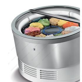 Επαγγελματικό Ψυγείο Βιτρίνα Παγωτού & Γλυκού για 12 Λεκανάκια IFI Ιταλίας Περιστρεφόμενη
