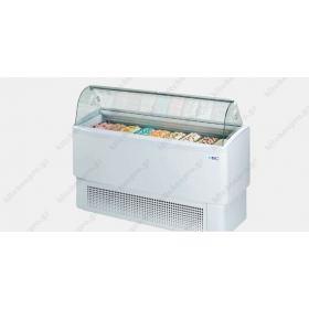 Ψυγείο Βιτρίνα Παγωτού (Compact) για 10+10 Λεκανάκια ISA Ιταλίας FIJI 140 RV