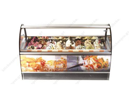 Βιτρίνα Παγωτού για 12 Λεκανάκια MILLENNIUM 120 ISA Ιταλίας