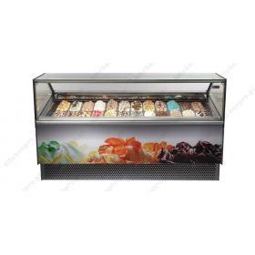 Ψυγείο Βιτρίνα Παγωτού για 12 Λεκανάκια ISA Ιταλίας MILLENIUM 12