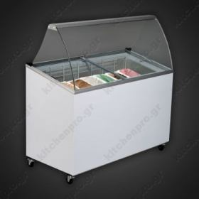 Ψυγείο Βιτρίνα Παγωτού για 7 Λεκανάκια UGUR
