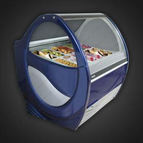 Επαγγελματικό Ψυγείο Βιτρίνα Παγωτού για 12+12 Λεκανάκια UGUR Τουρκίας.
