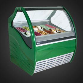 Επαγγελματικό Ψυγείο Βιτρίνα Παγωτού για 12+12 Λεκανάκια.