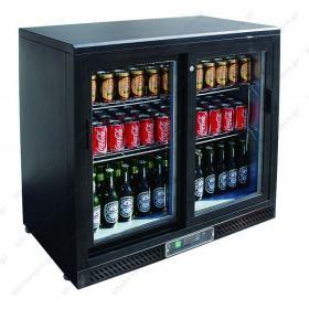 Επαγγελματικό Ψυγείο Βιτρίνα Συντήρησης Μπουκαλιών διπλή 90 εκ Πλάτος x 87 εκ Ύψος Back Bar TEFCOLD Δανίας DB200H