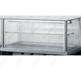 Επιτραπέζια Θερμαινόμενη Βιτρίνα - Τυροπιτιέρα 100 εκ με Αντίσταση Kitchen Pro