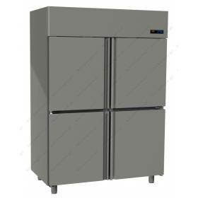 Όρθιο Ψυγείο Κατάψυξη με 4 Πόρτες 0°C/-18°C GINOX