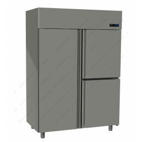 Όρθιο Ψυγείο Κατάψυξη με 3 Πόρτες 0°C/-18°C GINOX
