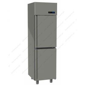 Όρθιο Ψυγείο Κατάψυξη με 2 Πόρτες Slim Line 0°C/-18°C GINOX
