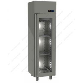 Όρθιο Ψυγείο Συντήρηση με Κρυστάλλινη Πόρτα Slim Line -2°C/+5°C GINOX