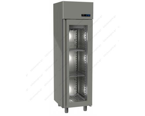 Επαγγελματικό Ψυγείο Θάλαμος-Συντήρηση με Κρυστάλλινη Πόρτα Slim Line 455 Lt GINOX Ελλάδος