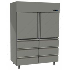 Όρθιο Ψυγείο Συντήρηση  με 2 Πόρτες & 6 Συρτάρια -2°C/+5°C GINOX