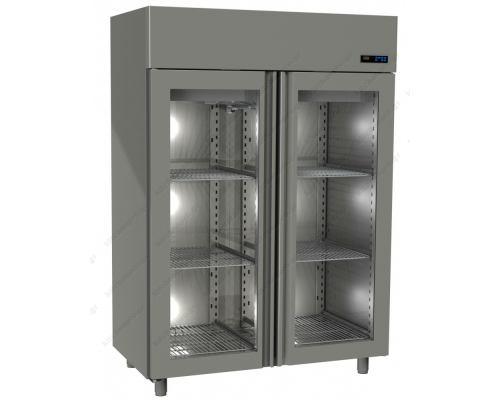 Επαγγελματικό Ψυγείο Θάλαμος-Συντήρηση με 2 Κρυστάλλινες Πόρτες Slim Line 1315 Lt GINOX Ελλάδος