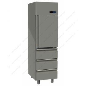 Όρθιο Ψυγείο Συντήρηση Πόρτα & 3 Συρτάρια Slim Line -2°C/+5°C GINOX