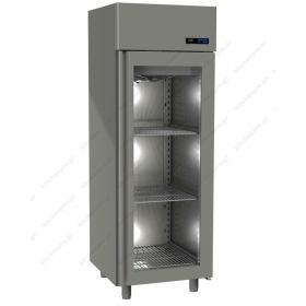 Όρθιο Ψυγείο Συντήρηση με Κρυστάλλινη Πόρτα -2°C/+5°C GINOX