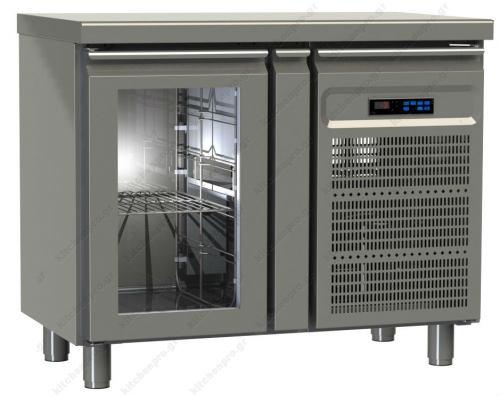 Επαγγελματικό Ψυγείο Πάγκος-Συντήρηση 95.5 x 60 εκ. με 1 Κρυστάλλινη Πόρτα GINOX Ελλάδος