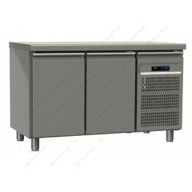 Ψυγείο Πάγκος Συντήρηση 130χ70 εκ με 2 Πόρτες GN 1/1 GINOX