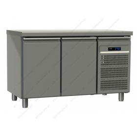 Επαγγελματικό Ψυγείο Πάγκος Συντήρηση 130χ60 εκ με 2 Πόρτες GINOX