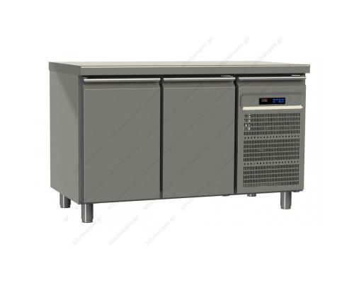 Επαγγελματικό Ψυγείο Πάγκος-Συντήρηση 130 x 60 εκ. με 2 Πόρτες GINOX Ελλάδος
